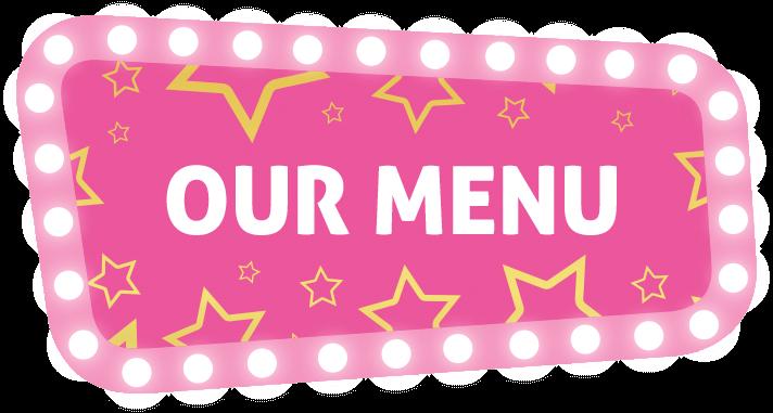 Our menu sign